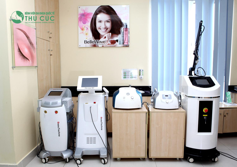 Thẩm mỹ Thu Cúc luôn trang bị những thiết bị y tế hiện đại