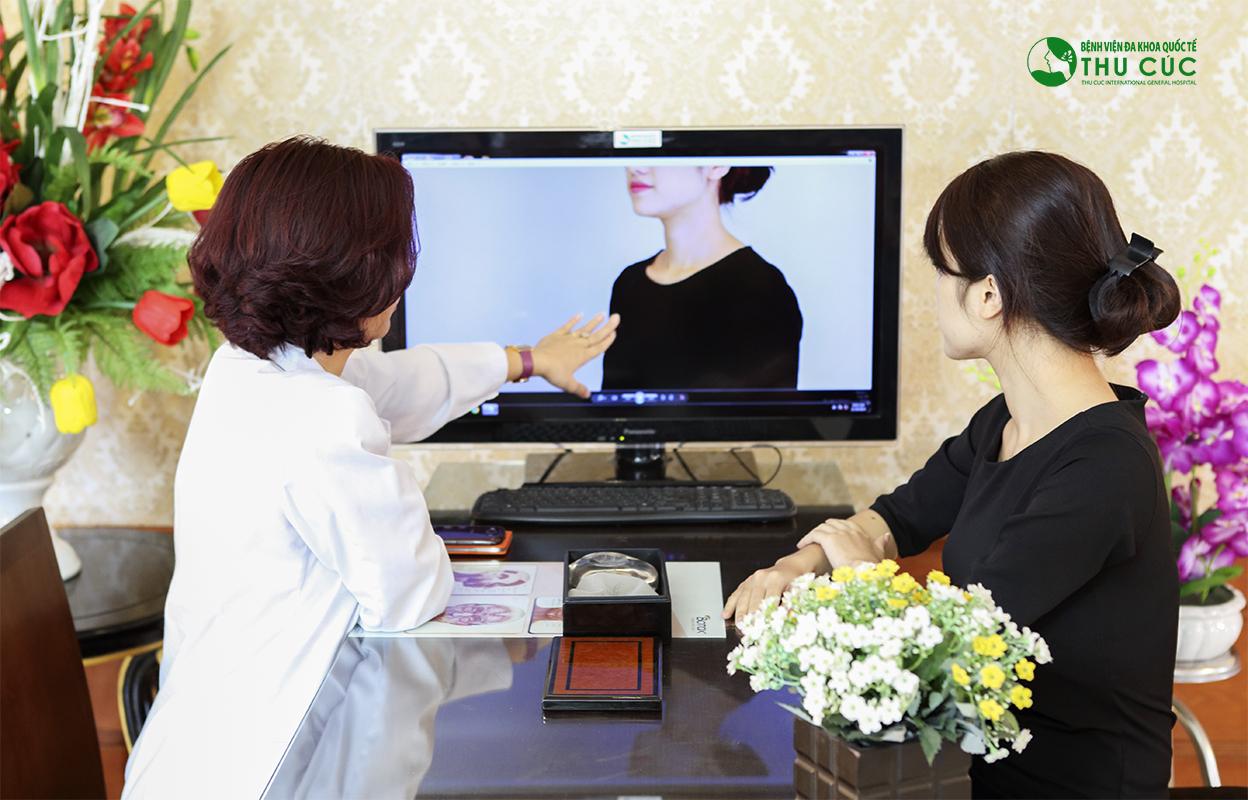 Khách hàng sẽ được thăm khám cụ thể về mức độ sa trễ và tư vấn đầy đủ về dịch vụ trước khi phẫu thuật