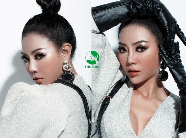 Nữ diễn viên Thanh Hương sở hữu dáng mũi đẹp hoàn hảo sau khi nâng mũi tại Thu Cúc