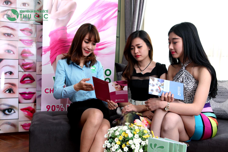 Phái đẹp Việt tới Thẩm mỹ Thu Cúc để được tư vấn lựa chọn hình thức