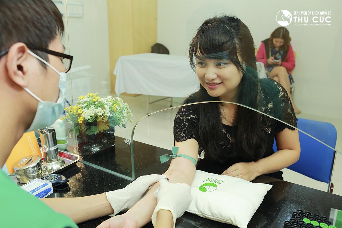 Thử máu, kiểm tra tim mạch, huyết áp, tiểu đường, thử phản ứng thuốc,...