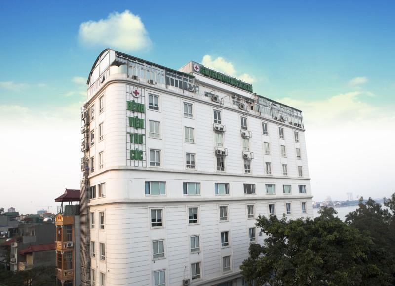 Trụ sở Khoa Phẫu thuật thẩm mỹ, Bệnh viện Đa khoa Quốc tế Thu Cúc tại 286 Thụy Khuê, Tây Hồ, Hà Nội