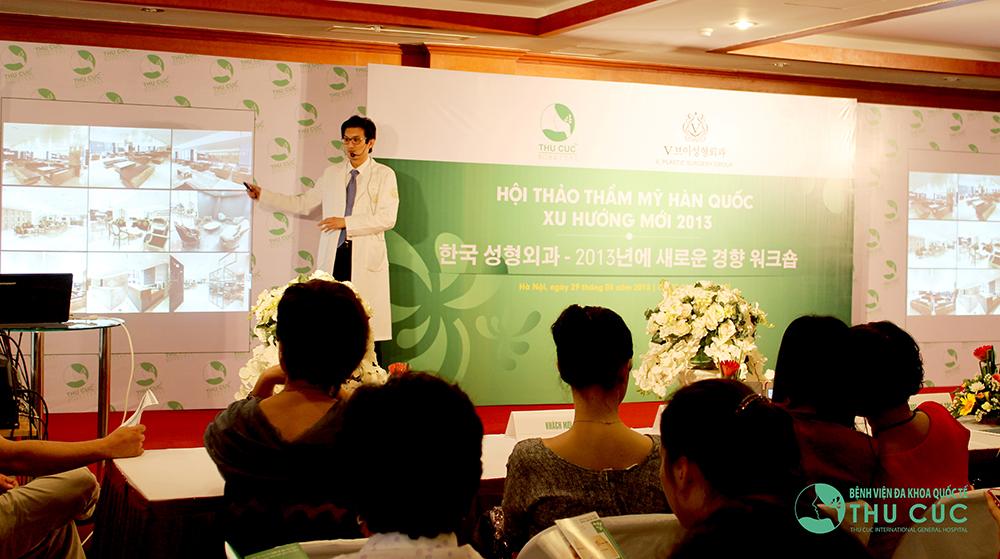 Thẩm mỹ Thu Cúc là đối tác chính thức của Tập đoàn Phẫu thuật thẩm mỹ Hàn Quốc V-Plastic.