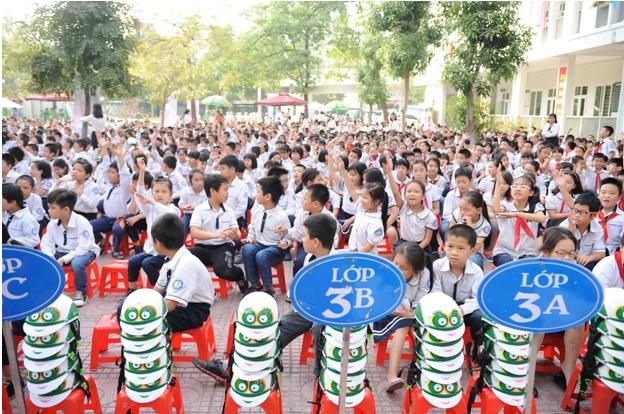 Buổi lễ phát động được tổ chức tại Trường tiểu học Dịch vọng B, Q Cầu Giấy, Hà Nội