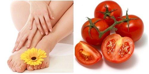 cách tẩy lông chân bằng cà chua