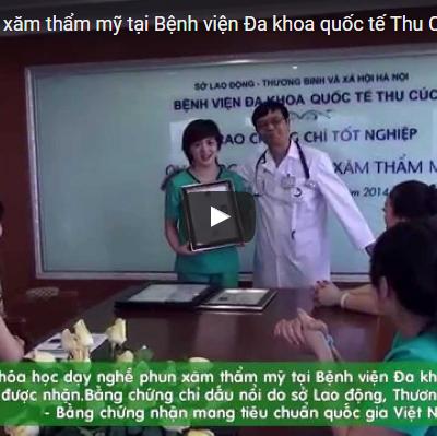 Dạy nghề phun xăm thẩm mỹ tại Bệnh viện Đa khoa quốc tế Thu Cúc