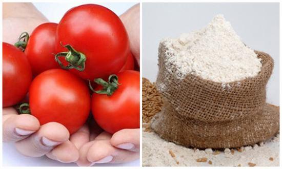 Cà chua với bột mì được xem là 1 trong những sự kết hợp hoàn hảo có tác dụng tẩy lông cực kì tốt.