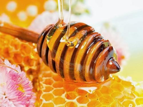 Mật ong chứa nhiều vitamin và dưỡng chất thiết yếu nuôi dưỡng làn môi đẹp rạng ngời.