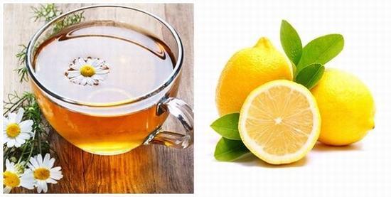 Tẩy lông bằng trà hoa cúc và chanh tươi