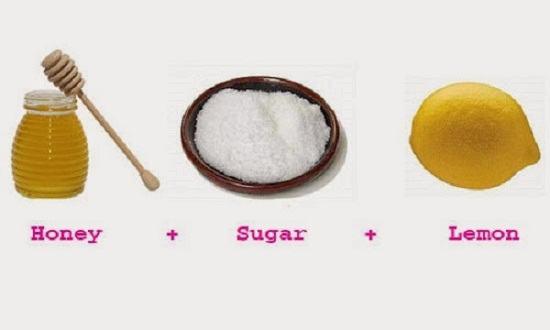 Tẩy lông bằng mật ong, chanh và đường