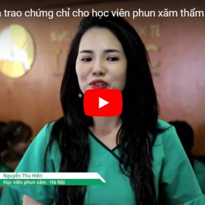 Lễ tốt nghiệp và trao chứng chỉ cho học viên phun xăm thẩm mỹ (1/11/2017)