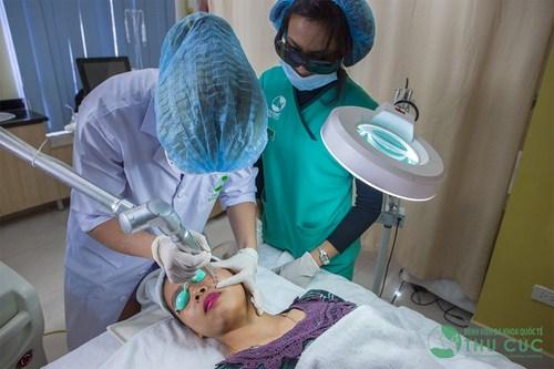 Quy trình trị tàn nhang tại Thu Cúc được thực hiện bài bản